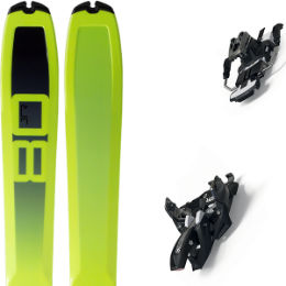 DYNAFIT SL 80 FLUO 20 + MARKER ALPINIST 9 LONG TRAVEL 90MM BLACK/TITANIUM 21