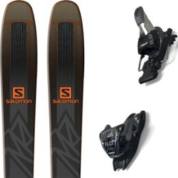 SALOMON QST 92 BLACK/ORANGE 19 + MARKER 11.0 TCX BLACK/ANTHRACITE 20
