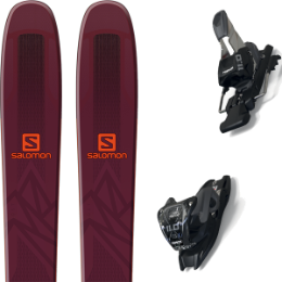 SALOMON QST 106 BORDEAUX/ORANGE 19 + MARKER 11.0 TCX BLACK/ANTHRACITE 20