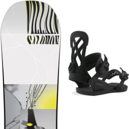 SALOMON THE VILLAIN GROM 20 + UNION CONTACT PRO BLACK 20