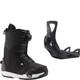 BURTON LIMELIGHT STEP ON BLACK 20 + BURTON STEP ON WOMENS BLACK SHIFT 20