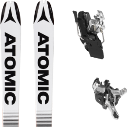 ATOMIC BACKLAND 85 UL BLACK/WHITE 20 + ATK R12 - 91MM WHITE 20
