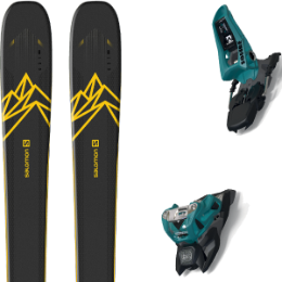SALOMON QST 92 DARK BLUE/YELLOW 20 + MARKER SQUIRE 11 ID TEAL/BLACK 20