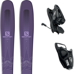 SALOMON QST MYRIAD 85 PURPLE 19 + LOOK NX 11 B90 BLACK 20
