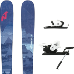 NORDICA SANTA ANA 93 MIDNIGHT BLUE 20 + SALOMON Z12 B90 WHITE/BLACK 19