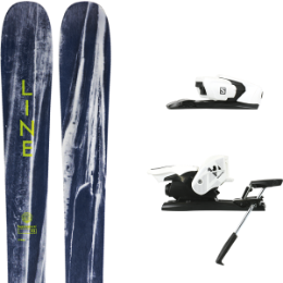LINE SUPERNATURAL 92 20 + SALOMON Z12 B90 WHITE/BLACK 19