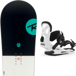 ROSSIGNOL ALIAS JR 19 + UNION YTH CADET PRO WHITE 20