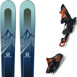 SALOMON MTN EXPLORE 88 W BLUE/BLUE 20 + MARKER KINGPIN 13 75-100 MM BLACK/COOPER 20