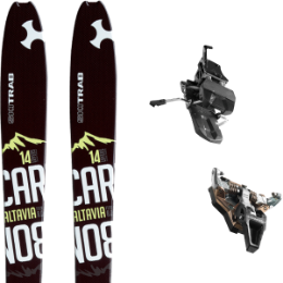 SKI TRAB ALTAVIA CARBON 8.0 20 + DYNAFIT ST RADICAL TURN 85 BLACK 21