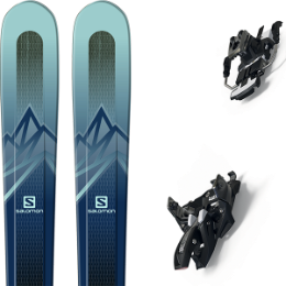SALOMON MTN EXPLORE 88 W BLUE/BLUE 20 + MARKER ALPINIST 12 LONG TRAVEL 90MM BLACK/TITANIUM 20