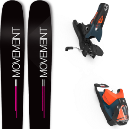 Pack ski MOVEMENT MOVEMENT GO 100 WOMEN 19 + LOOK SPX 12 GW B120 PETROL/ORANGE 20 - Ekosport
