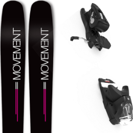 Pack ski MOVEMENT MOVEMENT GO 100 WOMEN 19 + LOOK NX 12 GW B100 BLACK 21 - Ekosport