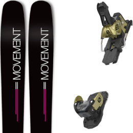 Pack ski MOVEMENT MOVEMENT GO 100 WOMEN 19 + SALOMON WARDEN MNC 13 N GOLD 20 - Ekosport