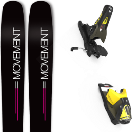 Pack ski MOVEMENT MOVEMENT GO 100 WOMEN 19 + LOOK SPX 12 GW B100 KAKI/YELLOW 20 - Ekosport