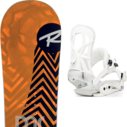 Boutique ROSSIGNOL ROSSIGNOL DISTRICT 20 + DRAKE FIFTY WHITE 20 - Ekosport