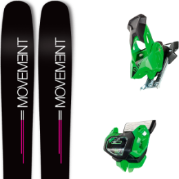 Pack ski MOVEMENT MOVEMENT GO 100 WOMEN 19 + TYROLIA ATTACK² 13 GW GREEN W/O BRAKE 19 - Ekosport