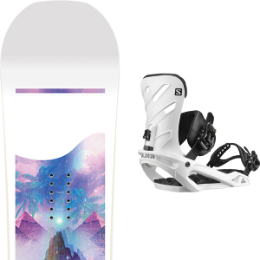CAPITA SPACE METAL FANTASY 19 + SALOMON RHYTHM WHITE 20
