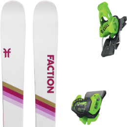 Pack ski FACTION FACTION CANDIDE 2.0 X 20 + TYROLIA ATTACK² 13 GW BRAKE 110 [A] GREEN 20 - Ekosport