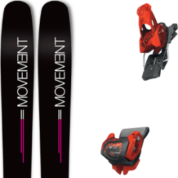 Pack ski MOVEMENT MOVEMENT GO 100 WOMEN 19 + TYROLIA ATTACK² 13 GW BRAKE 110 [A] RED 20 - Ekosport