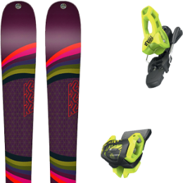 Pack ski K2 K2 MISSCONDUCT 19 + TYROLIA ATTACK² 11 GW BRAKE 100 [L] FLASH YELLOW 20 - Ekosport