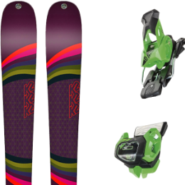 Pack ski K2 K2 MISSCONDUCT 19 + TYROLIA ATTACK² 13 GW BRAKE 95 [A] GREEN 19 - Ekosport
