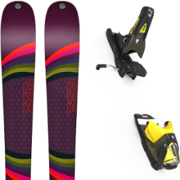 Pack ski K2 K2 MISSCONDUCT 19 + LOOK SPX 12 GW B100 KAKI/YELLOW 20 - Ekosport
