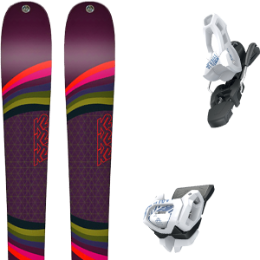 Pack ski K2 K2 MISSCONDUCT 19 + TYROLIA ATTACK² 11 GW BRAKE 100 [L] SOLID WHITE NAVY 20 - Ekosport