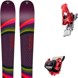 Pack ski K2 K2 MISSCONDUCT 19 + TYROLIA ATTACK² 13 GW W/O BRAKE [A] RED 20 - Ekosport
