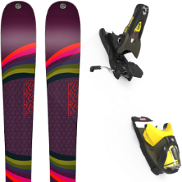 Pack ski K2 K2 MISSCONDUCT 19 + LOOK SPX 12 GW B90 KAKI/YELLOW 20 - Ekosport