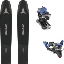 Collection ATOMIC ATOMIC BACKLAND 107 BLACK/GREY 21 + DYNAFIT SPEED RADICAL BLUE 21 - Ekosport