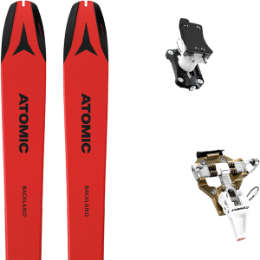 Pack ski ATOMIC ATOMIC BACKLAND 78 UL RED/BLACK 21 + DYNAFIT SPEED TURN 2.0 BRONZE/BLACK 21 - Ekosport