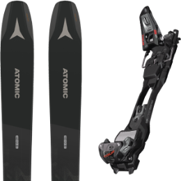 Pack ski ATOMIC ATOMIC BACKLAND 107 BLACK/GREY 21 + MARKER F12 TOUR EPF BLACK/ANTHRACITE 21 - Ekosport