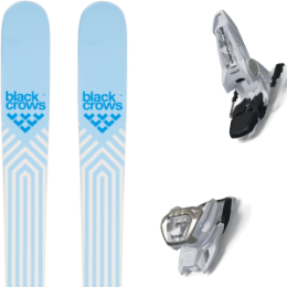 BU SKI BLACK CROWS BLACK CROWS CAPTIS BIRDIE 21 + MARKER GRIFFON 13 ID WHITE 21 - Ekosport