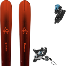 Pack ski SALOMON SALOMON MTN EXPLORE 88 RED/BLACK 21 + SALOMON MTN PURE BLACK/BLUE + BRAKE G90 21 - Ekosport