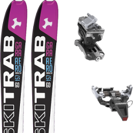 SKI TRAB GARA AERO WC WOMAN FLEX 60 19 + DYNAFIT SPEED RADICAL SILVER 20