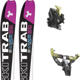 SKI TRAB GARA AERO WC WOMAN FLEX 60 19 + DYNAFIT SUPERLITE 175 BLACK 21