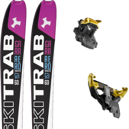SKI TRAB GARA AERO WC WOMAN FLEX 60 19 + DYNAFIT TLT SPEEDFIT 10 ALU YELLOW/BLACK 21
