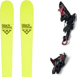 BU Fond / Rando BLACK CROWS BLACK CROWS ORB FREEBIRD 21 + MARKER KINGPIN 10 75-100MM BLACK/RED 21 - Ekosport