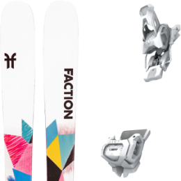 Pack ski FACTION FACTION PRODIGY 1.0 X 21 + TYROLIA ATTACK² 12 GW BRAKE 110 [A] MATT WHITE 20 - Ekosport