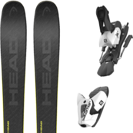 HEAD KORE 93 GREY 21 + SALOMON Z12 B100 WHITE/BLACK 21