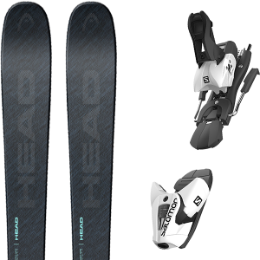 HEAD KORE 93 W GR/MI 21 + SALOMON Z12 B100 WHITE/BLACK 21