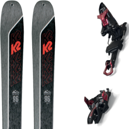 Boutique K2 K2 WAYBACK 96 21 + MARKER KINGPIN 10 75-100MM BLACK/RED 21 - Ekosport