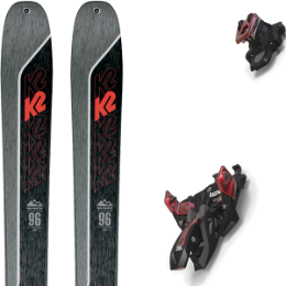 Boutique K2 K2 WAYBACK 96 21 + MARKER ALPINIST 12 BLACK/RED 21 - Ekosport