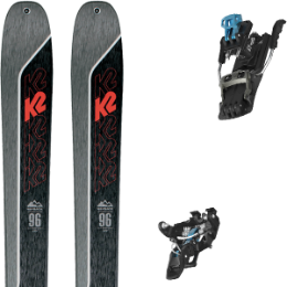 Boutique K2 K2 WAYBACK 96 21 + SALOMON MTN TOUR BLACK/BLUE G100 21 - Ekosport