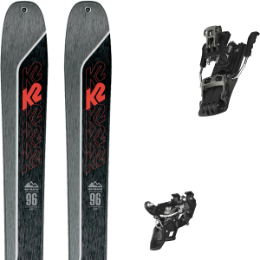 Boutique K2 K2 WAYBACK 96 21 + ATOMIC BACKLAND TOUR BLACK/GUNMETAL 100 21 - Ekosport