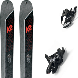 Pack ski K2 K2 WAYBACK 96 21 + MARKER ALPINIST 9 LONG TRAVEL 105MM BLACK/TITANIUM 20 - Ekosport