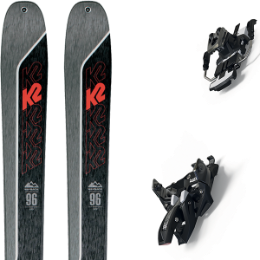 BU FR K2 K2 WAYBACK 96 21 + MARKER ALPINIST 12 LONG TRAVEL 105MM BLACK/TITANIUM 20 - Ekosport