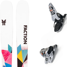 Pack ski FACTION FACTION PRODIGY 1.0 X 21 + MARKER GRIFFON 13 ID WHITE 20 - Ekosport