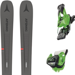 Collection ATOMIC ATOMIC VANTAGE 90 TI GREY/RED 21 + TYROLIA ATTACK² 13 GW BRAKE 95 [A] GREEN 19 - Ekosport
