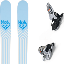 BU SKI BLACK CROWS BLACK CROWS CAPTIS BIRDIE 21 + MARKER GRIFFON 13 ID WHITE 20 - Ekosport